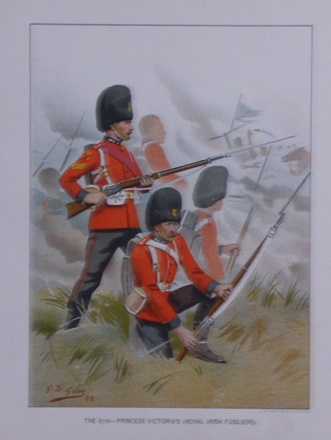 Print of soldiers