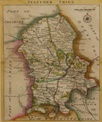 Rocque, J, Stafford Shire, c1753. Hand coloured. Mounted